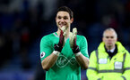 LEICESTER, ENGLAND - JANUARY 12: Alex McCarthy of Southampton during the Premier League match between Leicester City and Southampton FC at The King Power Stadium on January 12, 2019 in Leicester, United Kingdom. (Photo by Matt Watson/Southampton FC via Getty Images)