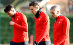 SOUTHAMPTON, ENGLAND - JANUARY 14: L to R Wesley Hoedt, Jan Bednarek and Oriol Romeu during a Southampton FC training session at the Staplewood Campus on January 14, 2019 in Southampton, England. (Photo by Matt Watson/Southampton FC via Getty Images)