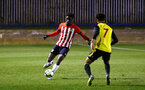 LONDON, ENGLAND - JANUARY 17:  David Agbonohoma (left) during a  FA Youth Cup match between Watford FC and Southampton FC on January 17, 2019 in Watford, United Kingdom. (Photo by James Bridle - Southampton FC/Southampton FC via Getty Images)