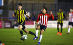 LONDON, ENGLAND - JANUARY 17:  Christian Norton (right) during a  FA Youth Cup match between Watford FC and Southampton FC on January 17, 2019 in Watford, United Kingdom. (Photo by James Bridle - Southampton FC/Southampton FC via Getty Images)