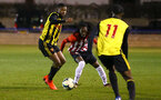 LONDON, ENGLAND - JANUARY 17:  Taymar Fleary (middle) during a  FA Youth Cup match between Watford FC and Southampton FC on January 17, 2019 in Watford, United Kingdom. (Photo by James Bridle - Southampton FC/Southampton FC via Getty Images)