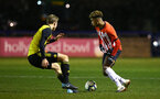 LONDON, ENGLAND - JANUARY 17:  Enzo Robise  (right) during a  FA Youth Cup match between Watford FC and Southampton FC on January 17, 2019 in Watford, United Kingdom. (Photo by James Bridle - Southampton FC/Southampton FC via Getty Images)