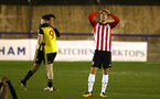 LONDON, ENGLAND - JANUARY 17:  Dan Bartlett frustrated with the result (right) during a  FA Youth Cup match between Watford FC and Southampton FC on January 17, 2019 in Watford, United Kingdom. (Photo by James Bridle - Southampton FC/Southampton FC via Getty Images)