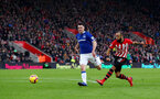 SOUTHAMPTON, ENGLAND - JANUARY 19: Nathan Redmond of Southampton shoots wide during the Premier League match between Southampton FC and Everton FC at St Mary's Stadium on January 19, 2019 in Southampton, United Kingdom. (Photo by Matt Watson/Southampton FC via Getty Images)