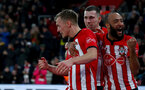 SOUTHAMPTON, ENGLAND - JANUARY 19: L to R James Ward-Prowse, Pierre-Emile Hojbjerg and Nathan Redmond of Southampton during the Premier League match between Southampton FC and Everton FC at St Mary's Stadium on January 19, 2019 in Southampton, United Kingdom. (Photo by Matt Watson/Southampton FC via Getty Images)