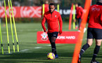 SOUTHAMPTON, ENGLAND - JANUARY 23: Tyreke Johnson during a Southampton FC training session at the Staplewood Campus on January 23, 2019 in Southampton, England. (Photo by Matt Watson/Southampton FC via Getty Images)