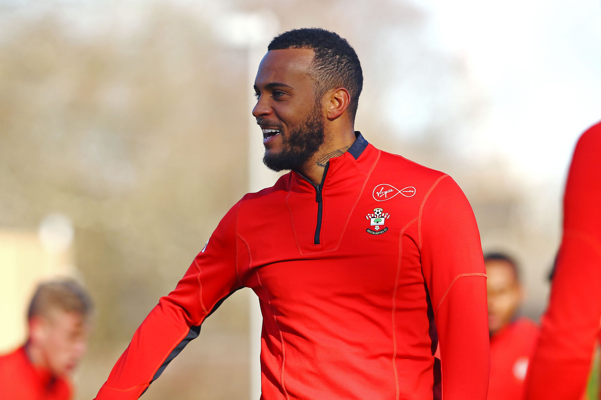 SOUTHAMPTON, ENGLAND - JANUARY 28:  Ryan Bertrand during a Southampton FC  training session at Staplewood Complex on January 28, 2019 in Southampton, England. (Photo by James Bridle - Southampton FC/Southampton FC via Getty Images)