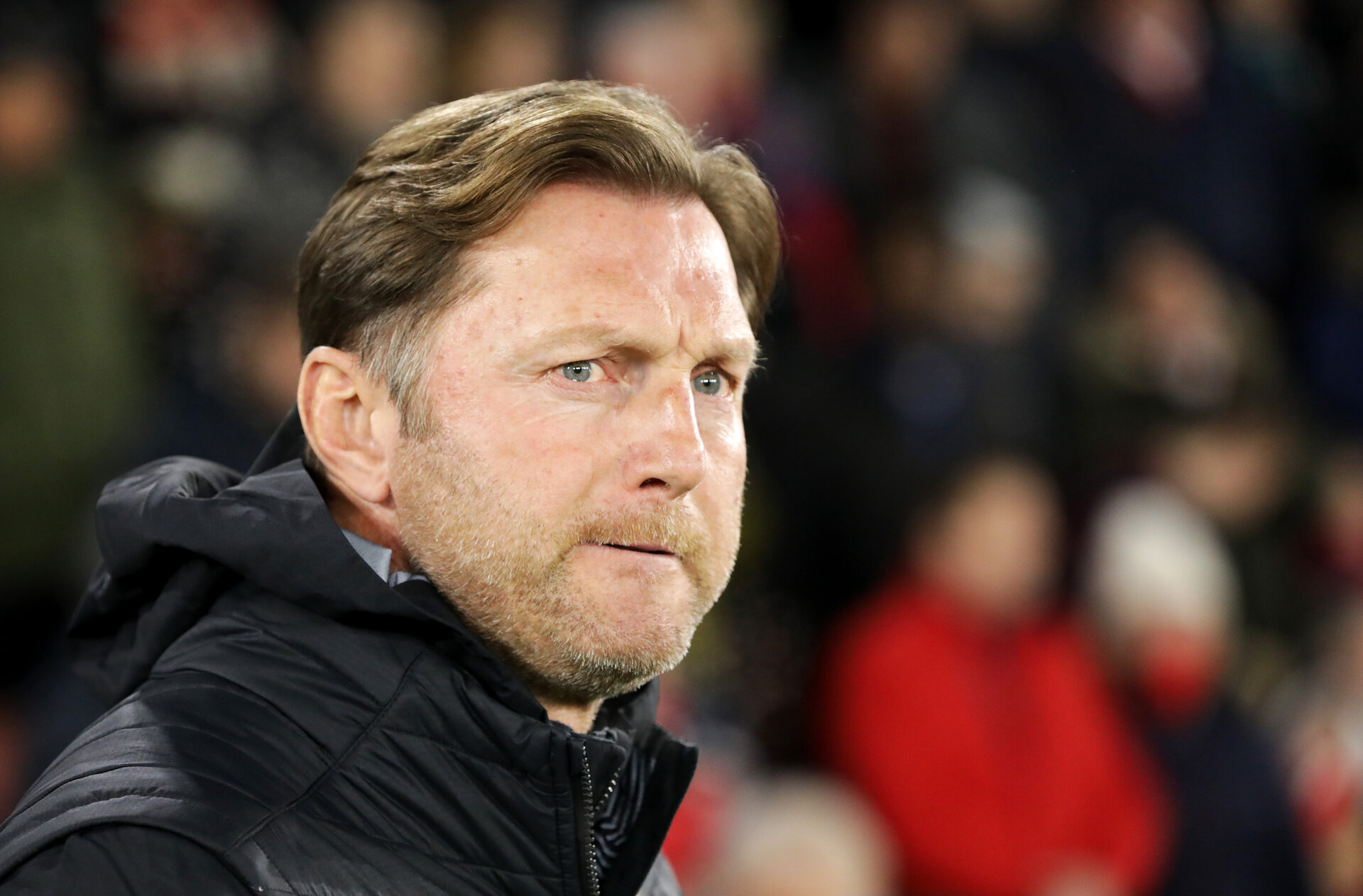 SOUTHAMPTON, ENGLAND - JANUARY 30: Ralph Hasenhuttl during the Premier League match between Southampton FC and Crystal Palace FC at St Mary's Stadium on January 30, 2019 in Southampton, United Kingdom. (Photo by Chris Moorhouse/ Southampton FC via Getty Images)