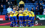 BURNLEY, ENGLAND - FEBRUARY 02: Southampton players huddle during the Premier League match between Burnley FC and Southampton FC at Turf Moor on February 02, 2019 in Burnley, United Kingdom. (Photo by Matt Watson/Southampton FC via Getty Images)