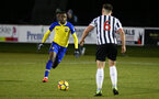 NEWCASTLE, ENGLAND - FEBRUARY 08: Jonathan Afolabi  (left) during a PLCUP match between Southampton FC and Newcastle United pictured at Northumberland County FA on February 08, 2019 in Newcastle, England. (Photo by James Bridle - Southampton FC/Southampton FC via Getty Images)