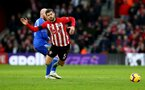 SOUTHAMPTON, ENGLAND - FEBRUARY 09: Jack Stephens(R) of Southampton is fouled by Aron Gunnarsson of Cardiff City during the Premier League match between Southampton FC and Cardiff City at St Mary's Stadium on February 09, 2019 in Southampton, United Kingdom. (Photo by Matt Watson/Southampton FC via Getty Images)