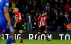 SOUTHAMPTON, ENGLAND - FEBRUARY 09: Jack Stephens of Southampton celebrates after equalising during the Premier League match between Southampton FC and Cardiff City at St Mary's Stadium on February 09, 2019 in Southampton, United Kingdom. (Photo by Matt Watson/Southampton FC via Getty Images)