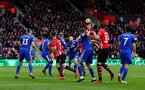 SOUTHAMPTON, ENGLAND - FEBRUARY 09: Jannik Vestergaard of Southampton wins a header during the Premier League match between Southampton FC and Cardiff City at St Mary's Stadium on February 09, 2019 in Southampton, United Kingdom. (Photo by Matt Watson/Southampton FC via Getty Images)