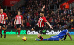 SOUTHAMPTON, ENGLAND - FEBRUARY 09: Shane Long during the Premier League match between Southampton FC and Cardiff City at St Mary's Stadium on February 9, 2019 in Southampton, United Kingdom. (Photo by Chris Moorhouse/Southampton FC via Getty Images)