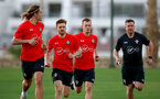 TENERIFE, SPAIN - FEBRUARY 11: Players run on day 1 of the Southampton FC Tenerife training camp on February 11, 2019 in Tenerife, Spain. (Photo by Matt Watson/Southampton FC via Getty Images)