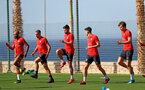 TENERIFE, SPAIN - FEBRUARY 13: players warm up on day 3 of Southampton FC's winter training camp on February 13, 2019 in Tenerife, Spain. (Photo by Matt Watson/Southampton FC via Getty Images)