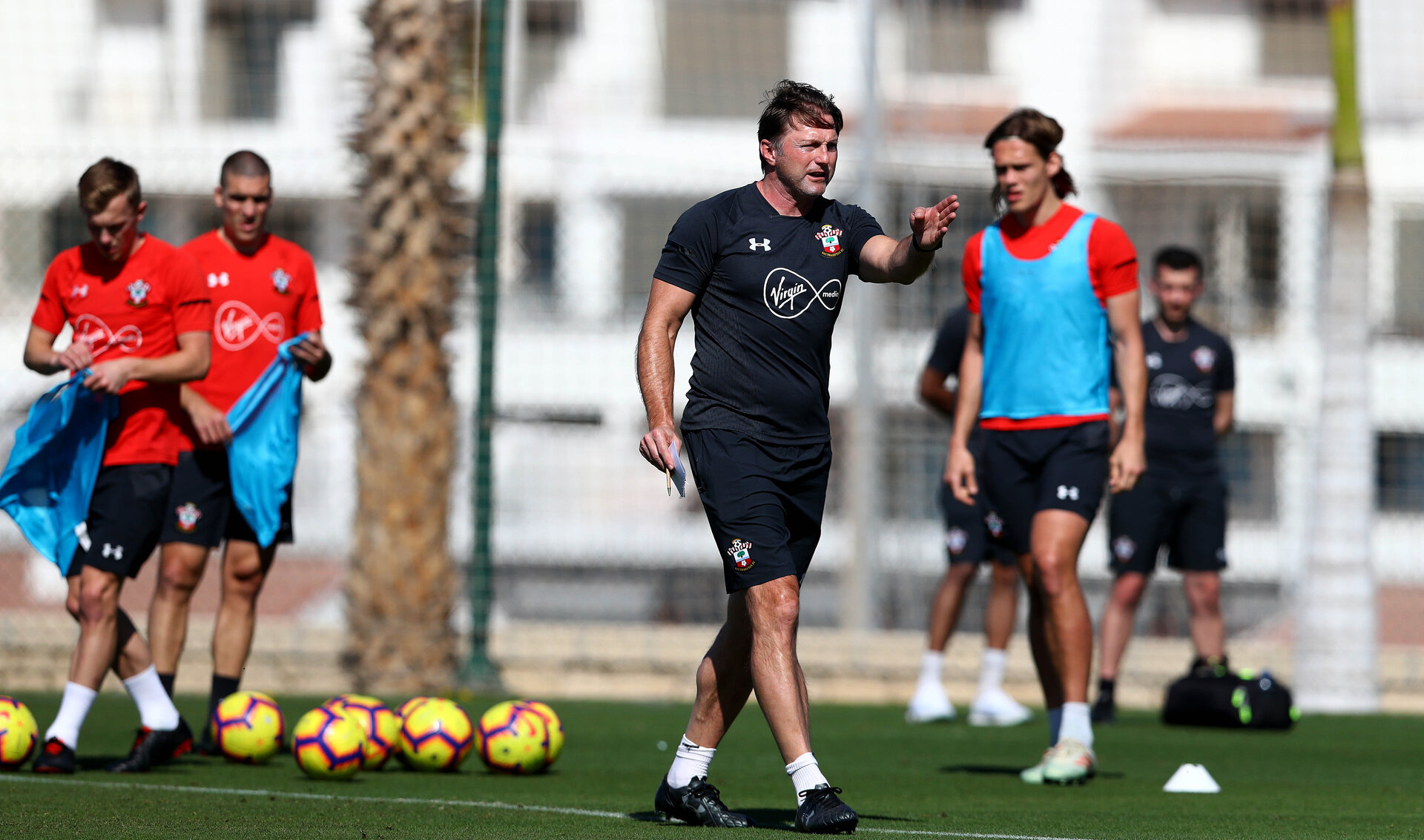 TENERIFE, SPAIN - FEBRUARY 13: Ralph Hasenhuttl on day 3 of Southampton FC's winter training camp on February 13, 2019 in Tenerife, Spain. (Photo by Matt Watson/Southampton FC via Getty Images)