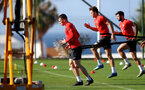 TENERIFE, SPAIN - FEBRUARY 15: Pierre-Emile Hojbjerg on day 5 of Southampton FC's winter training camp on February 15, 2019 in Tenerife, Spain. (Photo by Matt Watson/Southampton FC via Getty Images)