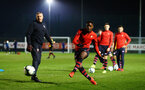 SOUTHAMPTON, ENGLAND - FEBRUARY 15: Nathan Tella shoots ahead of the U23s PL2 match between Southampton FC and Fulham FC pictured at Staplewood Complex on February 15, 2019 in Southampton, England. (Photo by James Bridle - Southampton FC/Southampton FC via Getty Images)