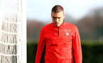 Oriol Romeu during a Southampton FC training session at the Staplewood Campus, Southampton, 19th February 2019