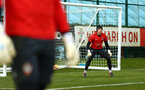 SOUTHAMPTON, ENGLAND - FEBRUARY 20: Harry lewis (right) during a Southampton FC training session pictured at Staplewood Complex on February 20, 2019 in Southampton, England. (Photo by James Bridle - Southampton FC/Southampton FC via Getty Images)