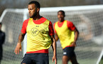 SOUTHAMPTON, ENGLAND - FEBRUARY 25:  Ryan Bertrand (left) during a Southampton FC training session pictured at Staplewood Training Ground in Southampton, England.  (Photo by James Bridle - Southampton FC/Southampton FC via Getty Images)
