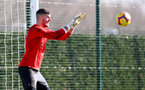 SOUTHAMPTON, ENGLAND - FEBRUARY 26: Fraser Forster during a Southampton FC training session at the Staplewood Campus on February 26, 2019 in Southampton, England. (Photo by Matt Watson/Southampton FC via Getty Images)