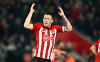 SOUTHAMPTON, ENGLAND - FEBRUARY 27: Pierre-Emile Hojbjerg of Southampton during the Premier League match between Southampton FC and Fulham FC at St Mary's Stadium on February 27, 2019 in Southampton, United Kingdom. (Photo by Matt Watson/Southampton FC via Getty Images)