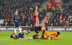 SOUTHAMPTON, ENGLAND - FEBRUARY 27:  James Ward-Prowse of Southampton FC scores (middle) during the Premier League match between Southampton FC and Fulham FC at St Mary's Stadium on February 27, 2019 in Southampton, United Kingdom. (Photo by James Bridle - Southampton FC/Southampton FC via Getty Images)