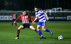 SOUTHAMPTON, ENGLAND - MARCH 01: Will Smallbone (left) during the PL2 match between Southampton FC and Reading FC pictured at Staplewood Complex on March 01, 2019 in Southampton, England. (Photo by James Bridle - Southampton FC/Southampton FC via Getty Images)