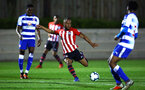 SOUTHAMPTON, ENGLAND - MARCH 01: Tyreke Johnson (middle) during the PL2 match between Southampton FC and Reading FC pictured at Staplewood Complex on March 01, 2019 in Southampton, England. (Photo by James Bridle - Southampton FC/Southampton FC via Getty Images)