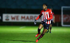 SOUTHAMPTON, ENGLAND - MARCH 01: Dan Nlundulu  during the PL2 match between Southampton FC and Reading FC pictured at Staplewood Complex on March 01, 2019 in Southampton, England. (Photo by James Bridle - Southampton FC/Southampton FC via Getty Images)