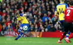 MANCHESTER, ENGLAND - MARCH 02: James Ward-Prowse of Southampton scores from a free kick during the Premier League match between Manchester United and Southampton FC at Old Trafford on March 02, 2019 in Manchester, United Kingdom. (Photo by Matt Watson/Southampton FC via Getty Images)