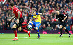 MANCHESTER, ENGLAND - MARCH 02: James Ward-Prowse of Southampton during the Premier League match between Manchester United and Southampton FC at Old Trafford on March 02, 2019 in Manchester, United Kingdom. (Photo by Matt Watson/Southampton FC via Getty Images)