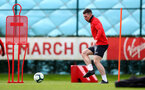 SOUTHAMPTON, ENGLAND - MARCH 05: Pierre-Emile Hojbjerg during a Southampton FC training session at the Staplewood Campus on March 05, 2019 in Southampton, England. (Photo by Matt Watson/Southampton FC via Getty Images)