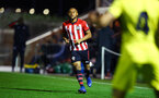 SOUTHAMPTON, ENGLAND - MARCH 06: Tyreke Johnson (left) during the U23's International Cup match between Southampton FC vs Villarreal pictured at Staplewood Complex on March 06, 2019 in Southampton, England. (Photo by James Bridle - Southampton FC/Southampton FC via Getty Images)