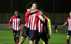 SOUTHAMPTON, ENGLAND - MARCH 06: Tom O'Connor scores and celebates with during the U23's International Cup match between Southampton FC vs Villarreal pictured at Staplewood Complex on March 06, 2019 in Southampton, England. (Photo by James Bridle - Southampton FC/Southampton FC via Getty Images)