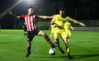 SOUTHAMPTON, ENGLAND - MARCH 06: Tom O'Connor  (left) during the U23's International Cup match between Southampton FC vs Villarreal pictured at Staplewood Complex on March 06, 2019 in Southampton, England. (Photo by James Bridle - Southampton FC/Southampton FC via Getty Images)
