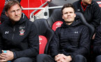 SOUTHAMPTON, ENGLAND - MARCH 09: Southampton manager Ralph Hasenhuttl during the Premier League match between Southampton FC and Tottenham Hotspur at St Mary's Stadium on March 9, 2019 in Southampton, United Kingdom. (Photo by Chris Moorhouse/Southampton FC via Getty Images)
