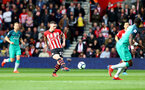 SOUTHAMPTON, ENGLAND - MARCH 09: Pierre-Emile Hojbjerg of Southampton during the Premier League match between Southampton FC and Tottenham Hotspur at St Mary's Stadium on March 09, 2019 in Southampton, United Kingdom. (Photo by Matt Watson/Southampton FC via Getty Images)