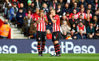 SOUTHAMPTON, ENGLAND - MARCH 09: Ryan Bertrand(L) and James Ward-Prowse of Southampton during the Premier League match between Southampton FC and Tottenham Hotspur at St Mary's Stadium on March 09, 2019 in Southampton, United Kingdom. (Photo by Matt Watson/Southampton FC via Getty Images)