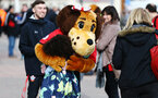 SOUTHAMPTON, ENGLAND - MARCH 09: Mary Saint of Southampton hugs a young fan ahead of the Premier League match between Southampton FC and Tottenham Hotspur at St Mary's Stadium on March 09, 2019 in Southampton, United Kingdom. (Photo by James Bridle - Southampton FC/Southampton FC via Getty Images)