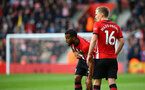 SOUTHAMPTON, ENGLAND - MARCH 09:  LtoR Ryan Bertrand, James Ward-Prowse of Southampton prepares for a free kick during the Premier League match between Southampton FC and Tottenham Hotspur at St Mary's Stadium on March 09, 2019 in Southampton, United Kingdom. (Photo by James Bridle - Southampton FC/Southampton FC via Getty Images)