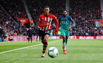 SOUTHAMPTON, ENGLAND - MARCH 09:  Yan Valery (left) of Southampton during the Premier League match between Southampton FC and Tottenham Hotspur at St Mary's Stadium on March 09, 2019 in Southampton, United Kingdom. (Photo by James Bridle - Southampton FC/Southampton FC via Getty Images)