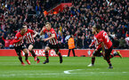 SOUTHAMPTON, ENGLAND - MARCH 09:  LtoR Yan Valery, Pierre-Emile Hojbjerg, James Ward-Prowse, Josh Sims, Ryan Bertrand during the Premier League match between Southampton FC and Tottenham Hotspur at St Mary's Stadium on March 09, 2019 in Southampton, United Kingdom. (Photo by James Bridle - Southampton FC/Southampton FC via Getty Images)