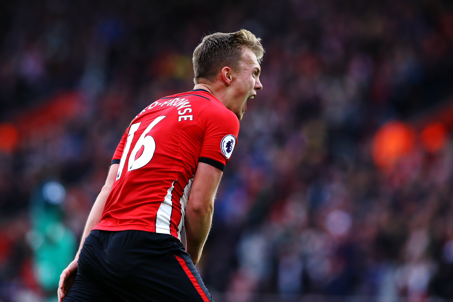 SOUTHAMPTON, ENGLAND - MARCH 09:  James Ward-Prowse celebrates after scoring during the Premier League match between Southampton FC and Tottenham Hotspur at St Mary's Stadium on March 09, 2019 in Southampton, United Kingdom. (Photo by James Bridle - Southampton FC/Southampton FC via Getty Images)