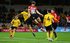 WOLVERHAMPTON, ENGLAND - MARCH 05:  Sam Gallagher (middle) during the PL2 U23's match between Wolverhampton Wanders and Southampton FC at Molineux Stadium in Wolverhampton, England, on March 05, 2019 (Photo by James Bridle - Southampton FC/Southampton FC via Getty Images)