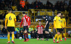WOLVERHAMPTON, ENGLAND - MARCH 05:  Callum Slattery is injured (middle) during the PL2 U23's match between Wolverhampton Wanders and Southampton FC at Molineux Stadium in Wolverhampton, England, on March 05, 2019 (Photo by James Bridle - Southampton FC/Southampton FC via Getty Images)