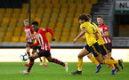 WOLVERHAMPTON, ENGLAND - MARCH 05:  Nathan Tella (left) during the PL2 U23's match between Wolverhampton Wanders and Southampton FC at Molineux Stadium in Wolverhampton, England, on March 05, 2019 (Photo by James Bridle - Southampton FC/Southampton FC via Getty Images)