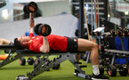 Pierre-Emile Hojbjerg during a Southampton gym session, at the Staplewood Campus, Southampton, 12th March 2019